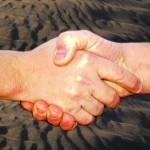 samenwerkende handen
